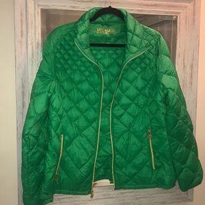 Michael Kors Kelly Green Puffer Jacket